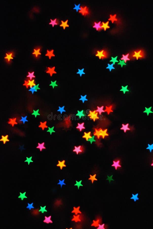 Estrellas coloreadas fotografía de archivo