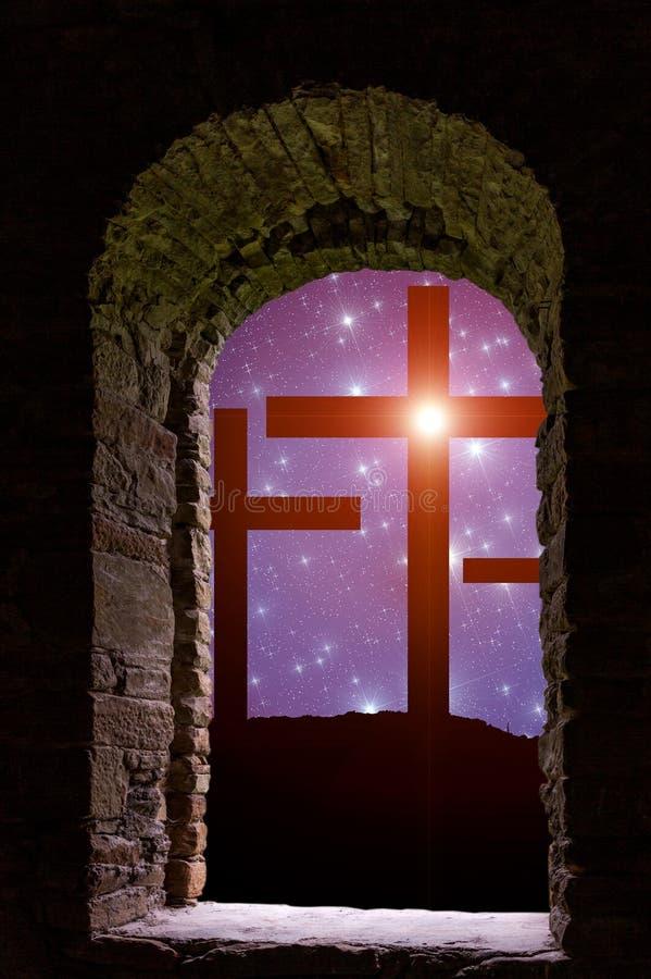 Estrellas cruzadas de Pascua stock de ilustración
