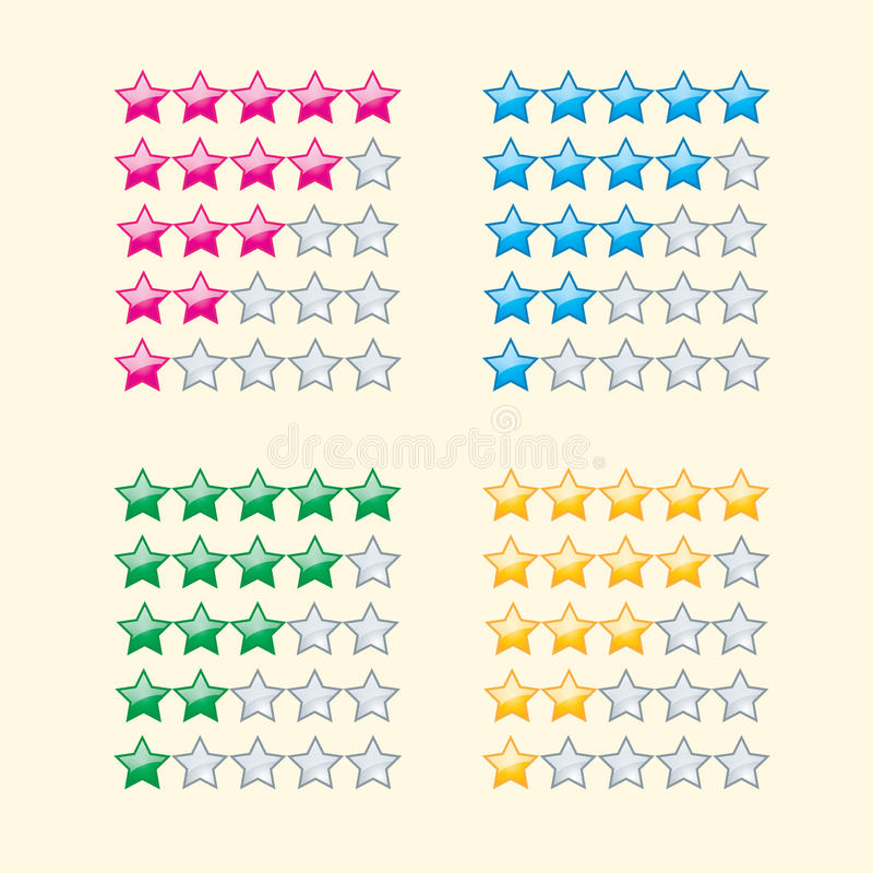 Estrellas de clasificación ilustración del vector