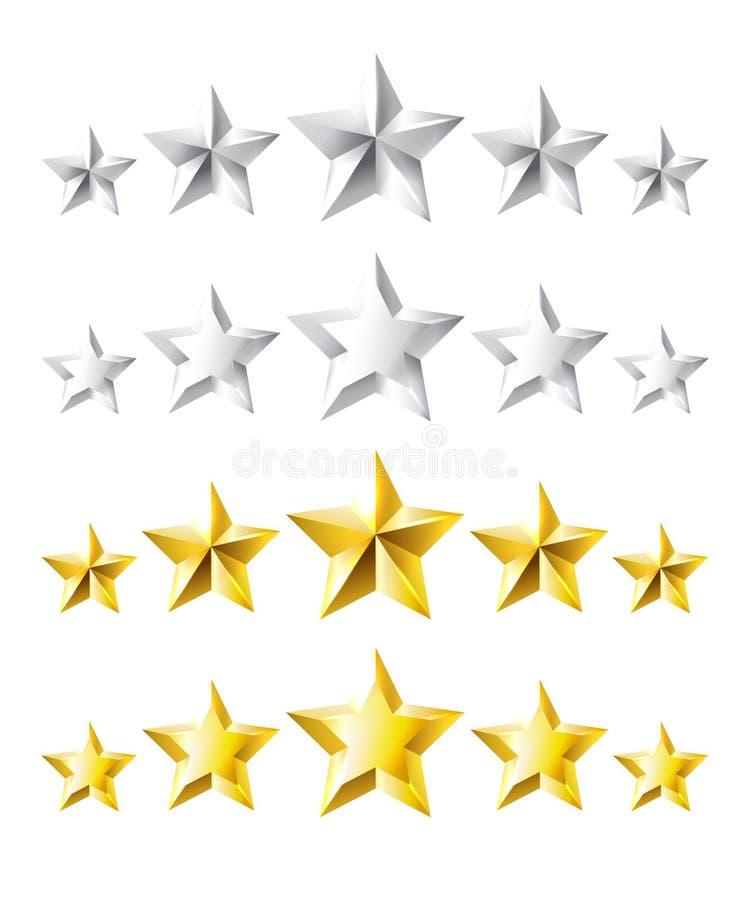 Estrellas de clasificación imágenes de archivo libres de regalías