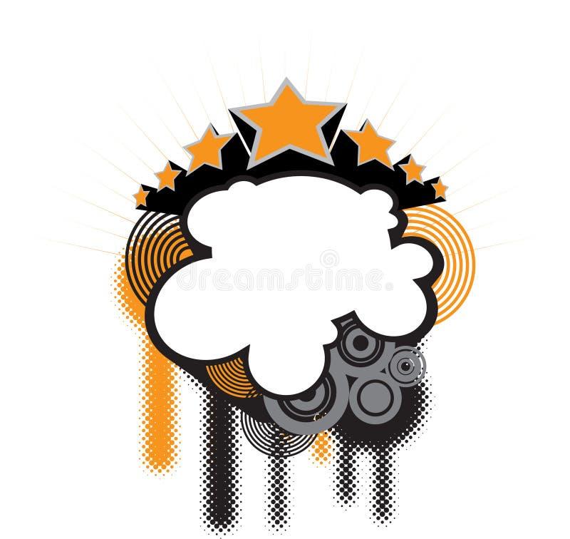 Estrellas de Grunge stock de ilustración