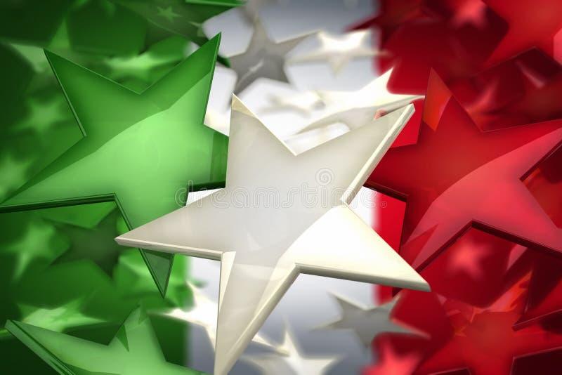 Estrellas de Italia stock de ilustración
