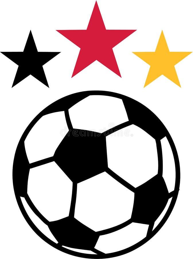 Estrellas de la bola del fútbol del fútbol ilustración del vector