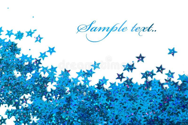 Estrellas de la celebración en blanco fotografía de archivo