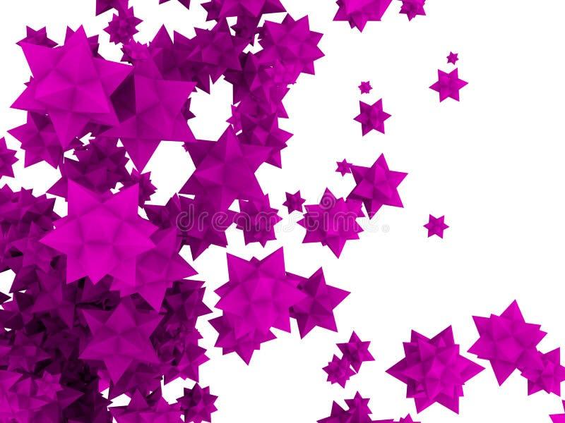 estrellas de la flor 3d stock de ilustración