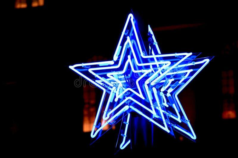 Estrellas de la luz de neón fotos de archivo libres de regalías