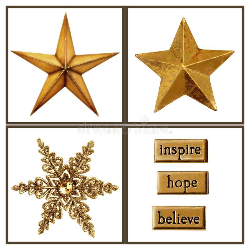 Estrellas de la Navidad ilustración del vector