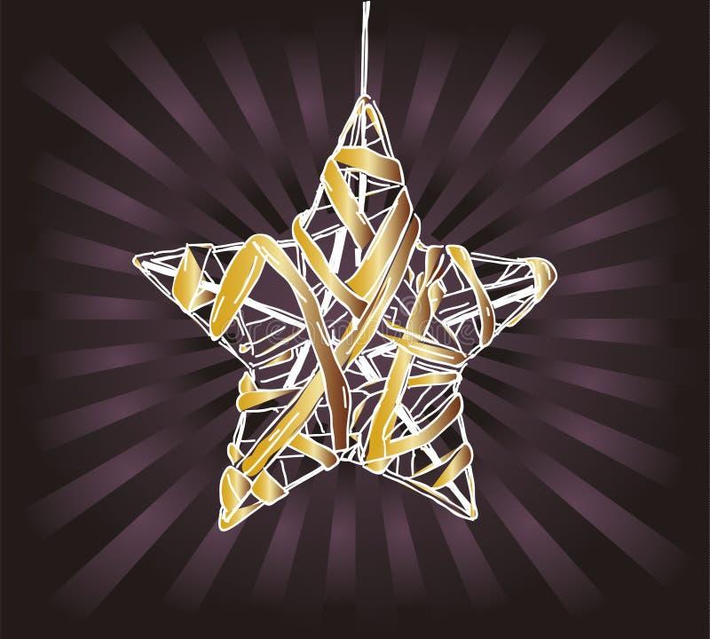 Estrellas de la Navidad en fondo rayado ilustración del vector