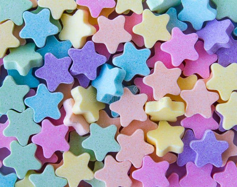 Estrellas de la tableta de la leche fotos de archivo