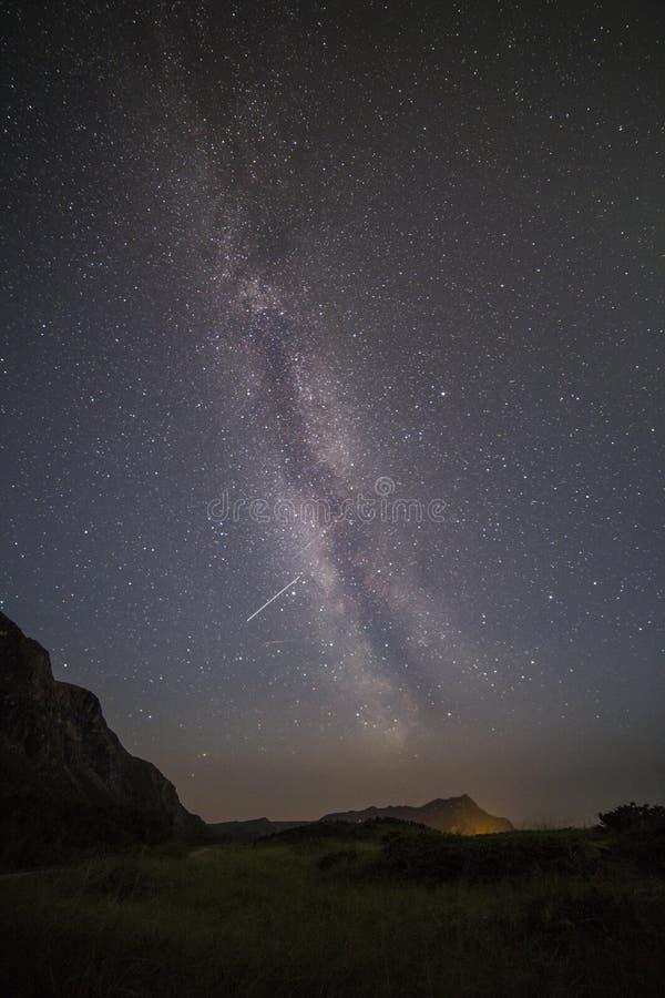 Estrellas de la vía láctea fotografía de archivo libre de regalías