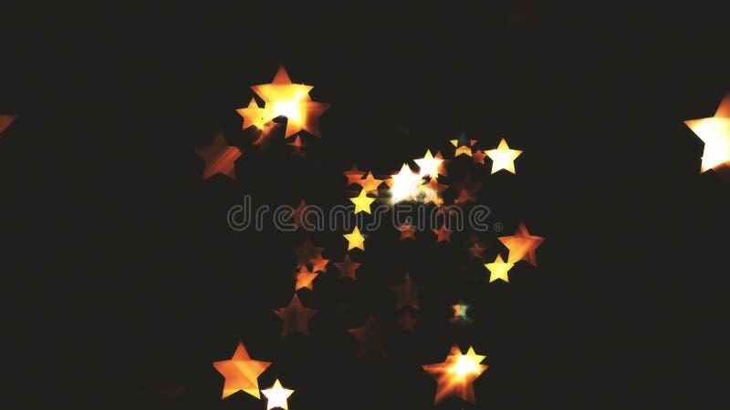 Estrellas de las partículas abstractas oscuras de Colorize stock de ilustración