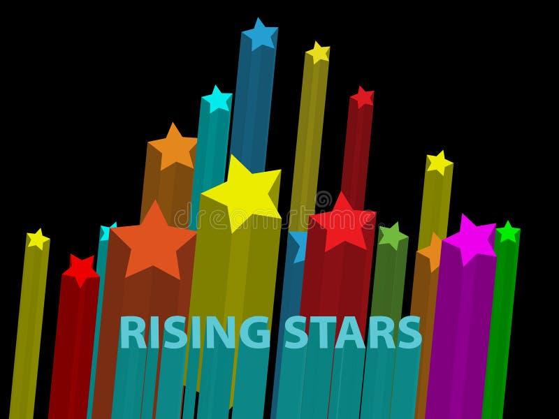Estrellas de levantamiento ilustración del vector