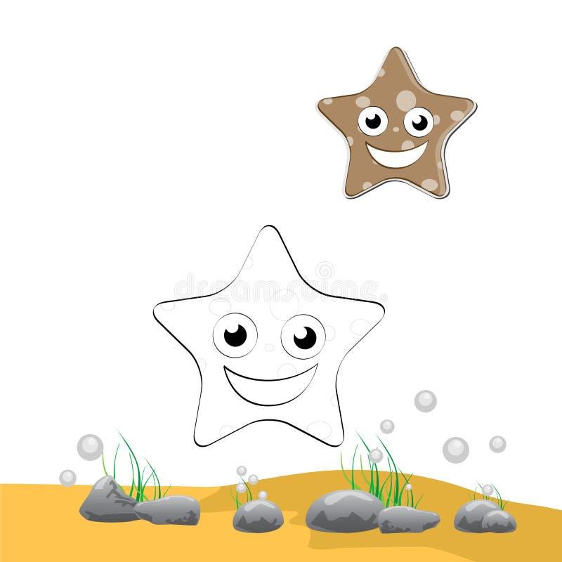 Estrellas De Mar Del Colorante Ilustración del Vector - Ilustración ...