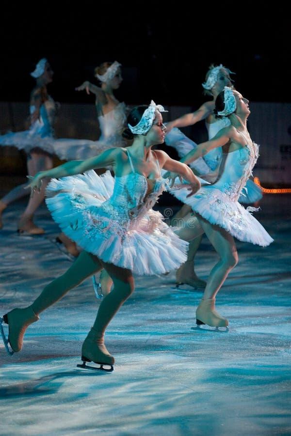 Estrellas de Moscú en el hielo Galati Rumania imagen de archivo