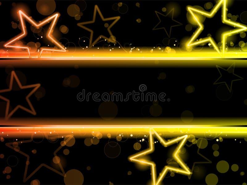 Estrellas de neón que brillan intensamente libre illustration