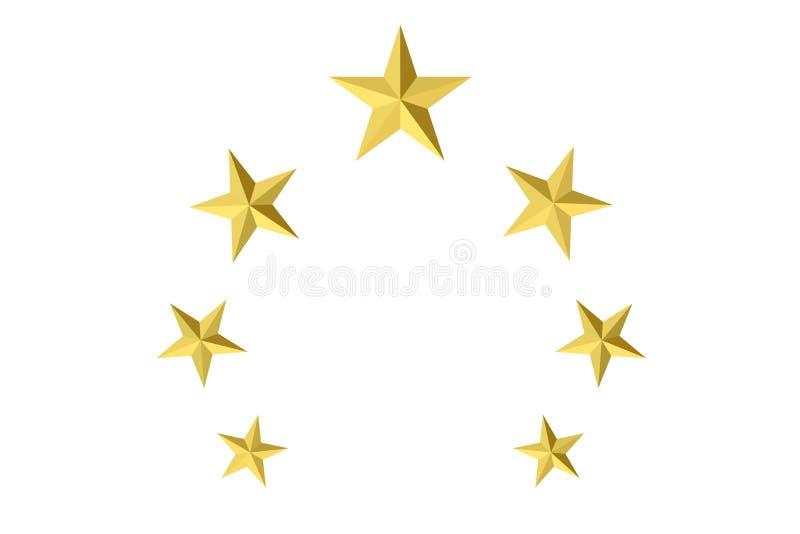 Estrellas de oro stock de ilustración