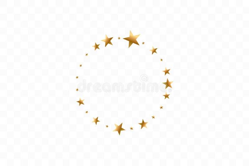 Estrellas de oro en el ejemplo del vector del círculo S?mbolo plano del marco de la estrella del icono fotos de archivo libres de regalías