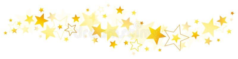 Estrellas de oro de la frontera diversas y amarillas ilustración del vector