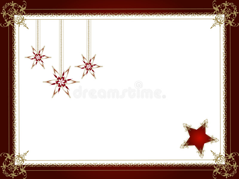 Estrellas decorativas de la Navidad ilustración del vector