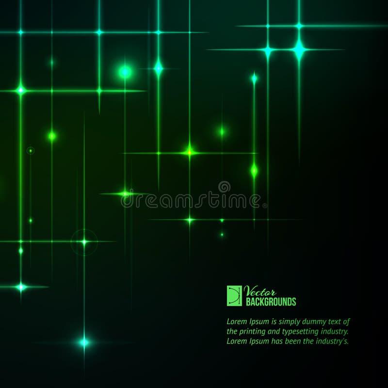 Estrellas del brillo. ilustración del vector