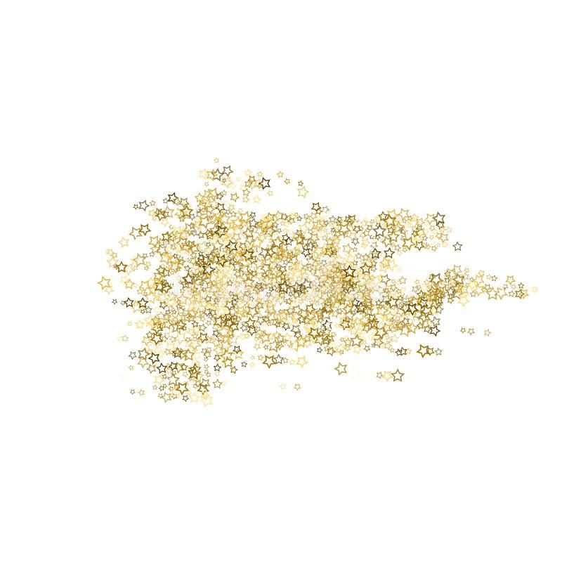 Estrellas del brillo La Navidad minúscula del oro del confeti de lujo ilustración del vector