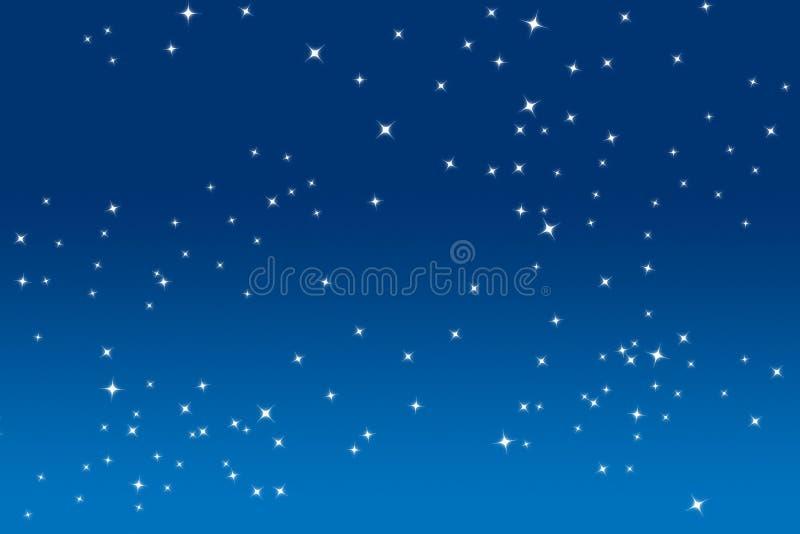 Estrellas del centelleo ilustración del vector