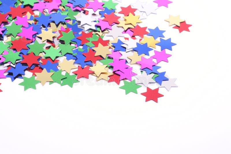 Estrellas del confeti imagenes de archivo