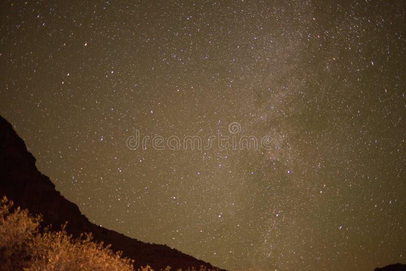Estrellas del desierto de Utah imágenes de archivo libres de regalías