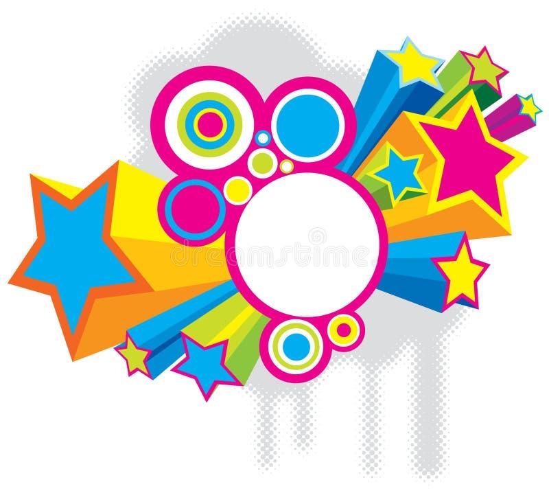 Estrellas del disco stock de ilustración