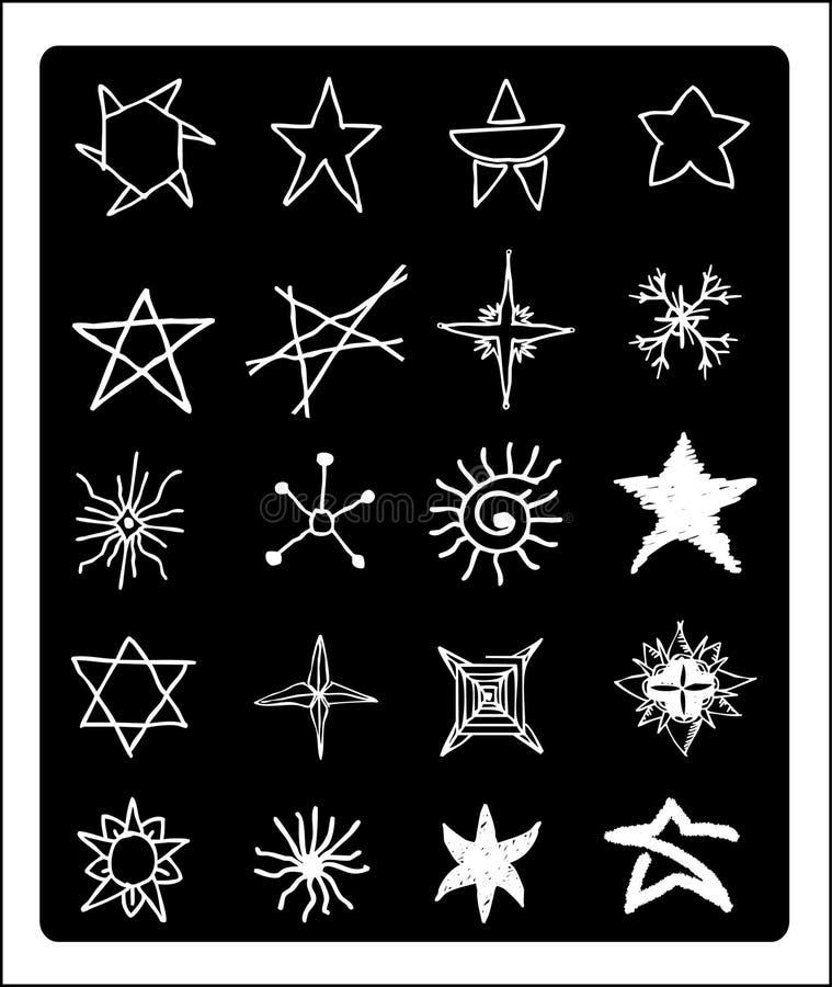 Estrellas del drenaje de la mano foto de archivo