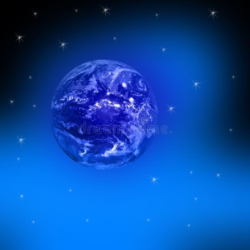 Estrellas del globo de la tierra ilustración del vector