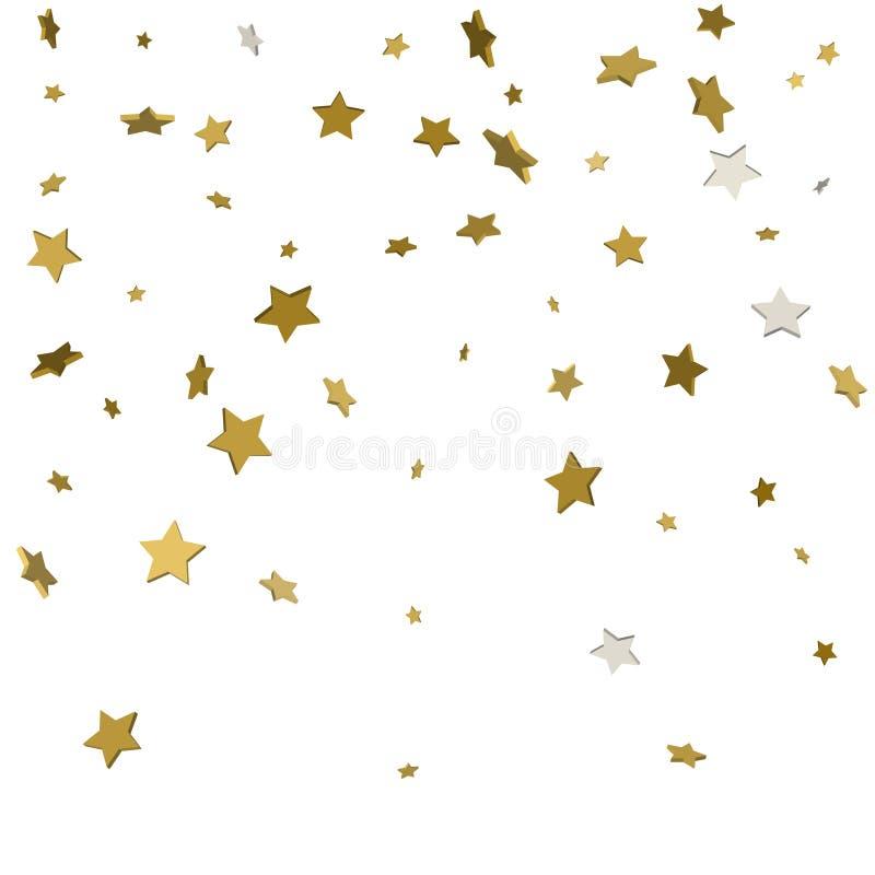 estrellas del oro 3d aisladas en el fondo blanco libre illustration