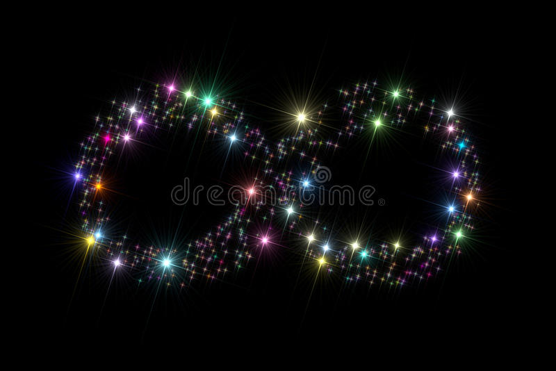 Estrellas del símbolo del infinito imagenes de archivo
