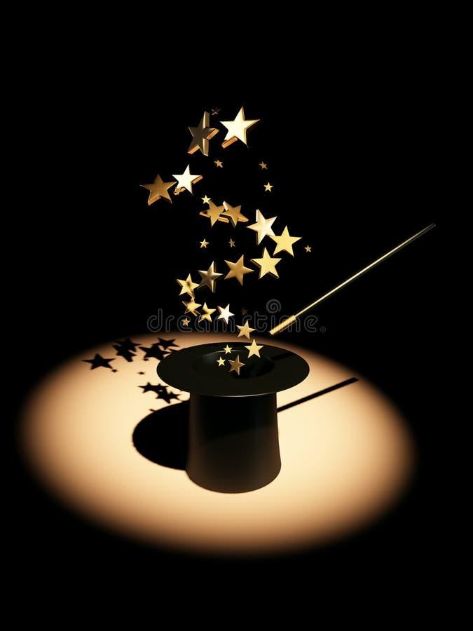Estrellas del sombrero stock de ilustración