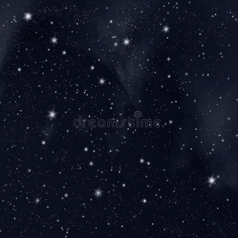 Estrellas en cielo ilustración del vector
