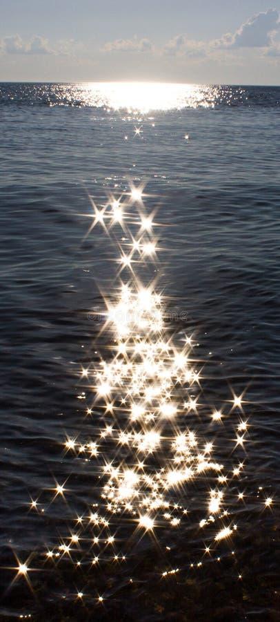 Estrellas en el agua imagen de archivo