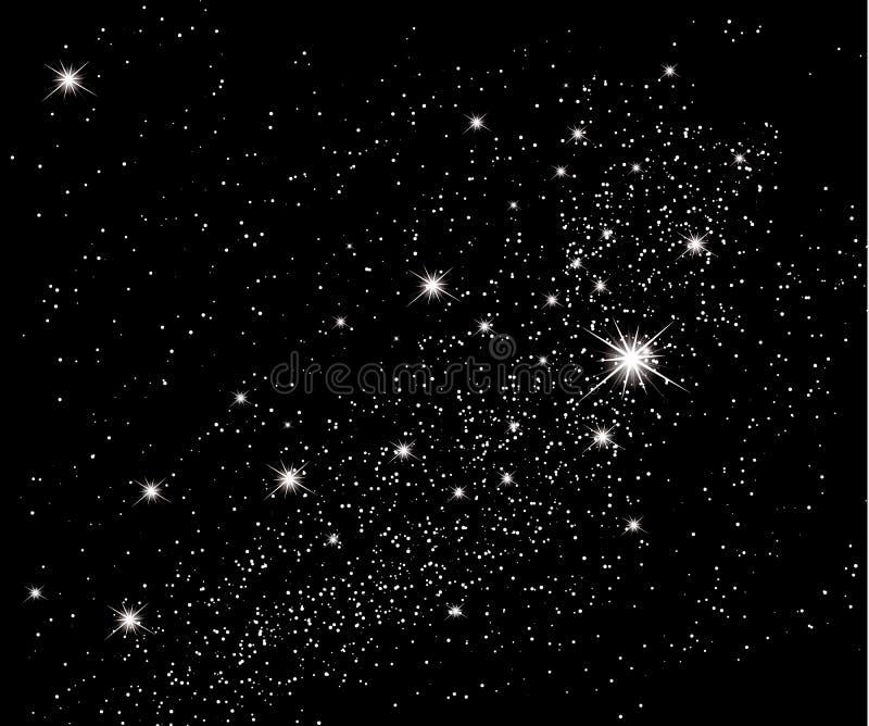 Estrellas en el cielo stock de ilustración