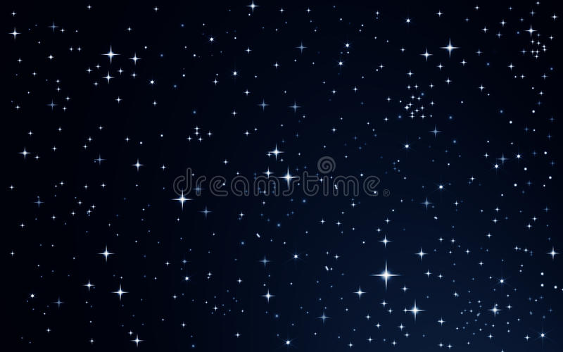 Estrellas en el cielo nocturno ilustración del vector