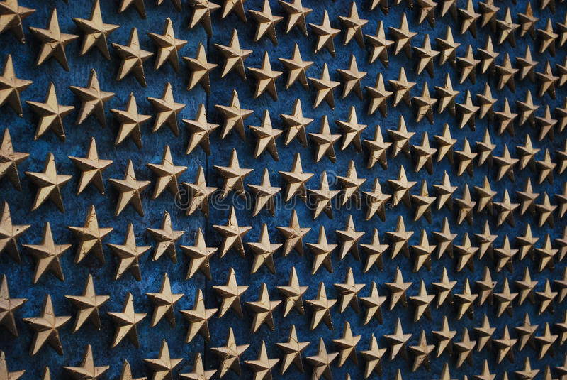 Estrellas en el monumento 3 de WWII - Washington DC fotografía de archivo