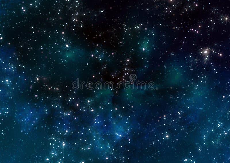 Estrellas en espacio exterior stock de ilustración