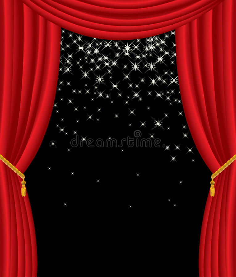 Estrellas en etapa stock de ilustración