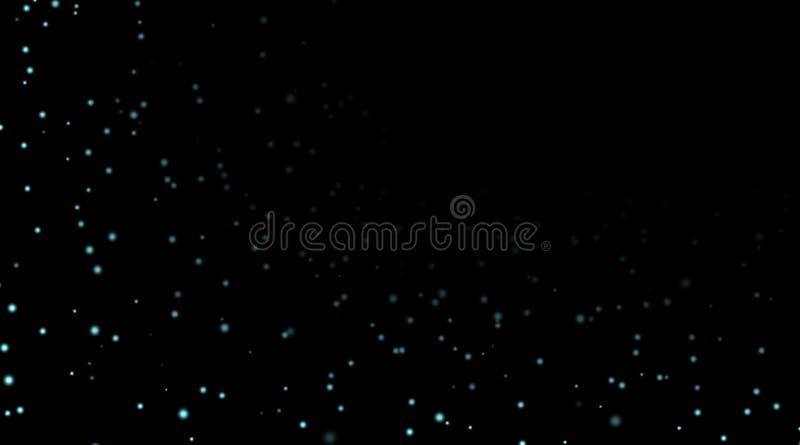 Estrellas en fondo negro de la noche ilustración del vector