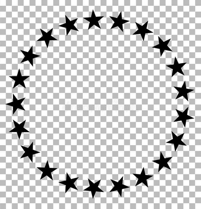 Estrellas en icono del círculo en transparente las estrellas en c?rculo dise?an para el diagrama, infographics, carta, presentaci libre illustration