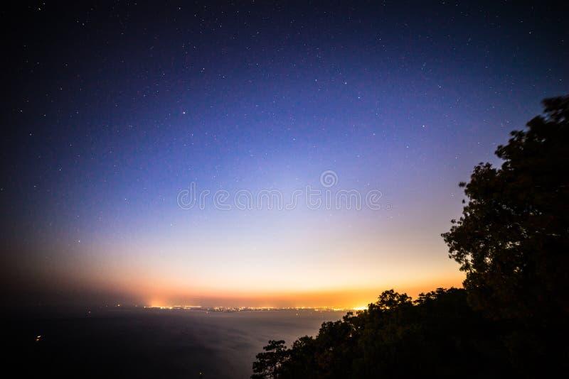 Estrellas en la bahía de Trieste imagen de archivo libre de regalías