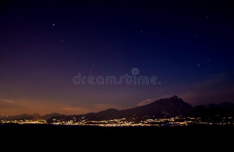 Estrellas en la noche imágenes de archivo libres de regalías