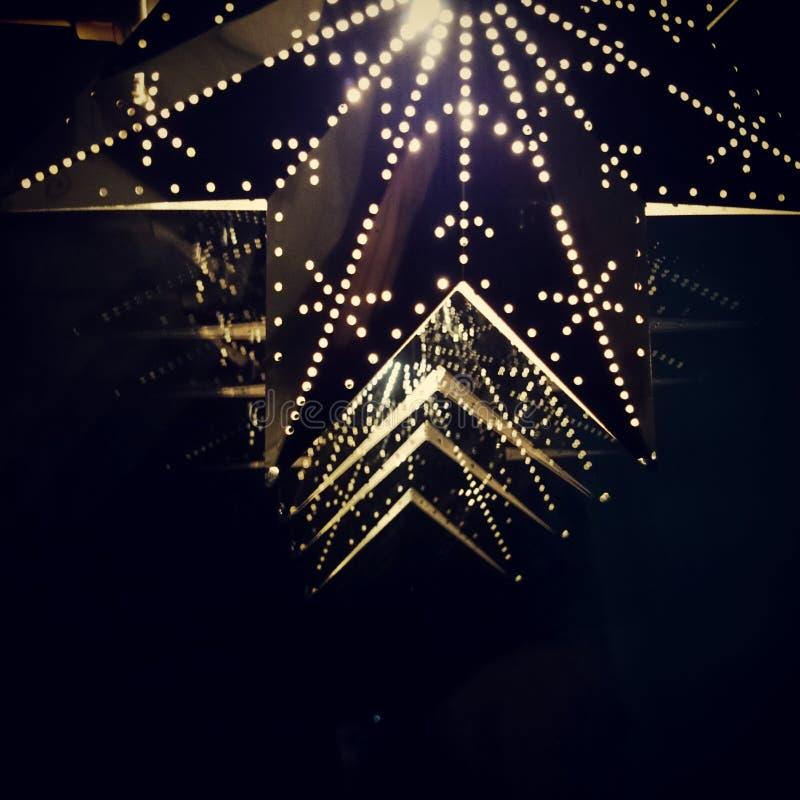 Estrellas en ventana imagenes de archivo