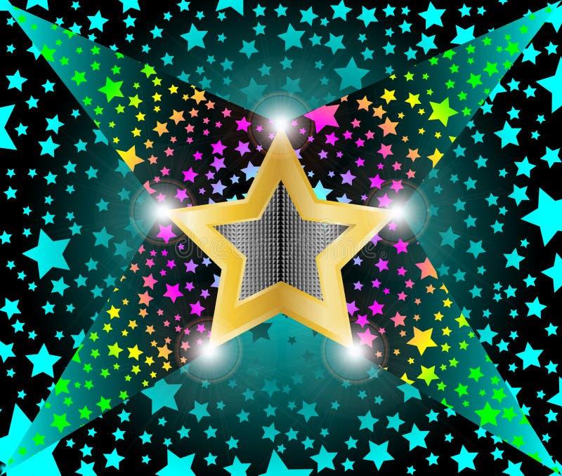 Estrellas fugaces ligeras del disco libre illustration