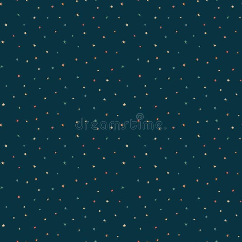 Estrellas inconsútiles stock de ilustración