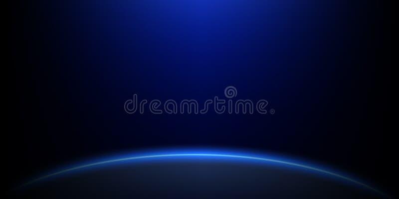 Estrellas ligeras en la superficie del planeta stock de ilustración