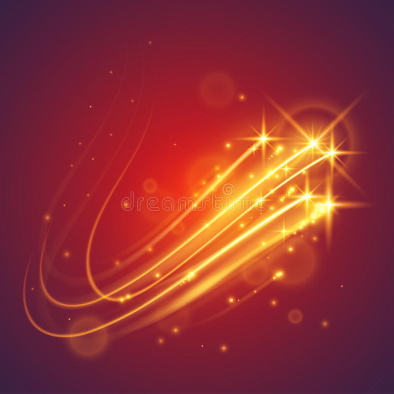 Estrellas mágicas del vuelo ilustración del vector